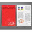 Cover report triangle geometry abstract red vector image vector image