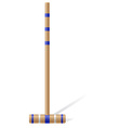 croquet mallet vector image vector image