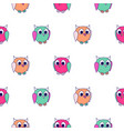 cute animals kids seamless pattern child zoo vector image vector image