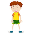 Cute boy with happy face vector image vector image