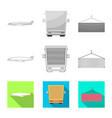 Design goods and cargo icon set of