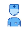 doctor line icon vector image vector image