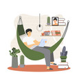 freelance worker flat style design vector image vector image