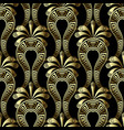 gold floral 3d gree seamless pattern ethnic vector image vector image