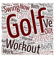 Golf Workouts Can Transform Your Game text vector image vector image