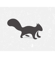 Gray squirrel logo or icon vector image vector image