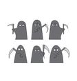 Grim reaper sketch vector image vector image