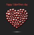 happy valentines day heart from billiard balls vector image