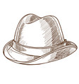 hat retro fashion design vintage male accessory vector image vector image