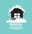 Heavy Snowfall On Home vector image