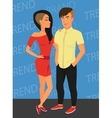 Hipster guy and his sensual girlfriend wearing vector image vector image
