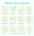 how to wash your hands infographic vector image