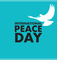international day peace vector image vector image