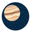 jupiter planet on white background vector image vector image