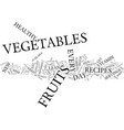 lean healthy recipes eat a variety of veggies for vector image vector image