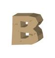letter b stone font rock alphabet symbol stones vector image
