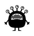 monster cute cartoon kawaii funny baby character vector image