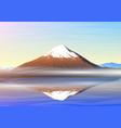 mountain fuji morning panoramic view vector image vector image