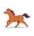 mustang horse animal standing on a white vector image vector image