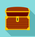 open treasure chest icon flat style vector image