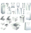 packaging set vector image vector image