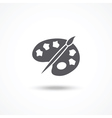 Palette icon vector image