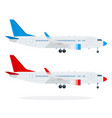 passenger airliners flat material design isolated vector image