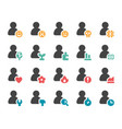 person and user icon set vector image vector image
