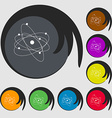 physics atom big bang icon Symbols on eight vector image