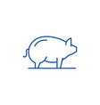 pig line icon concept pig flat symbol vector image