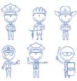 Police men vector image vector image