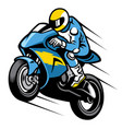 racer sportbike wheelie vector image vector image