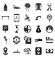repair equipment icons set simple style vector image