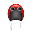retro motorcycle helmet and goggles vector image vector image