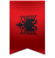 Ribbon banner - albanian flag vector image