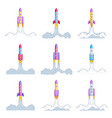 rockets launch into undiscovered space explore vector image