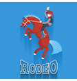 Rodeo posterCowboy on horse with text vector image vector image