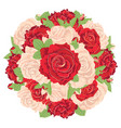 round bunch of roses vector image