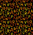 seamless pattern of gold letters vector image