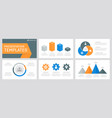 set gray orange and blue elements for vector image