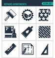 Set of modern icons Repairs apartments vector image vector image
