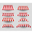 set striped tents vector image vector image