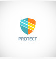 shield protect technology logo vector image vector image