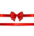 shiny color satin ribbon on white background vector image