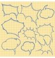 sketch bubbles vector image