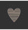 Sketch hearts with ornament Hand drawn cute vector image vector image