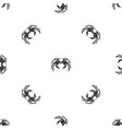snow crab pattern seamless black vector image vector image