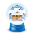 snowglobe with village houses vector image
