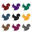 squirrelanimals single icon in black style vector image