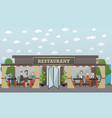 street restaurant flat vector image